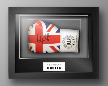 Anthony Crolla Signed Union Jack Boxing Glove In Our Elegance Box Frame