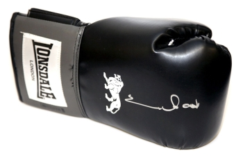 *New* Chris Eubank Signed Black Lonsdale Boxing Glove