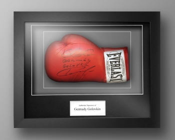 Gennady Golovkin Signed Boxing Glove Presented In A Box Frame: Online Authentics
