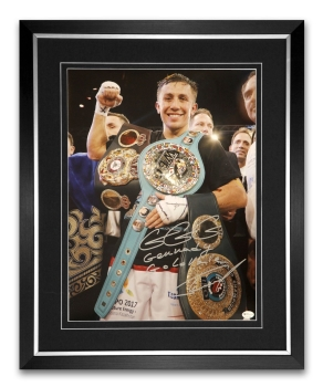 New Gennady Golovkin Signed And Framed 12x16 Boxing Photo:Online Authentics : B