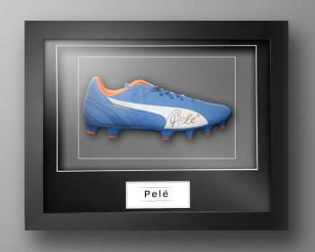 Pele Signed Puma Football Boot Presented In Our Elegance Box Frame