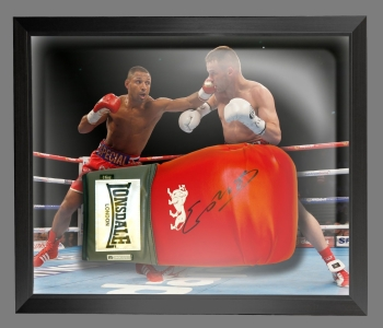 Kell Brook Signed Red Boxing Glove In A Dome Frame Presentation: B