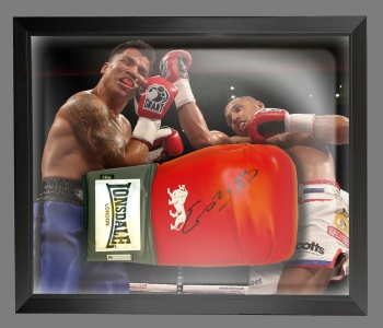 Kell Brook Signed Red Boxing Glove In A Dome Frame Presentation: A
