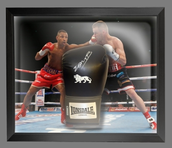 Kell Brook Signed Black Boxing Glove In A Dome Frame Presentation: A