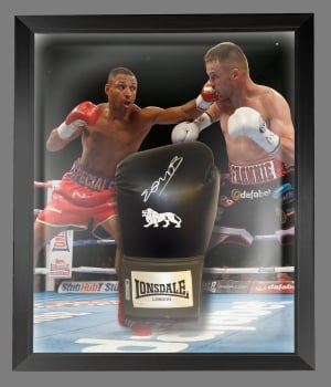 Kell Brook Signed Black Boxing Glove In A Dome Frame Presentation: B