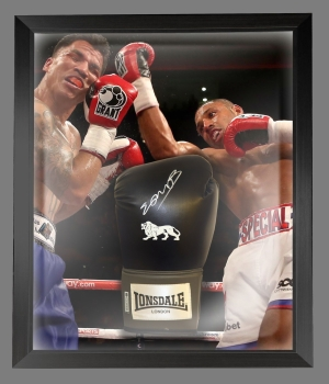 Kell Brook Signed Black Boxing Glove In A Dome Frame Presentation: C