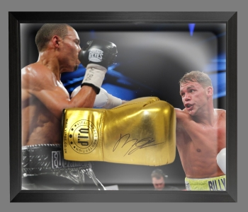 Billy Joe Saunders Signed Gold Vip Boxing Glove Presented In A Dome Frame: B