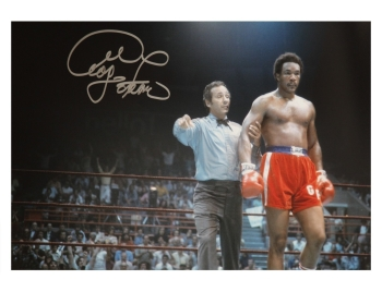 George Foreman Signed Boxing Large Photograph