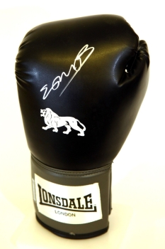 Kell Brook Hand Signed Black Portrait  Lonsdale Boxing Glove.
