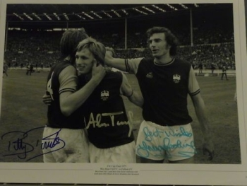 Brooking, Bonds and Taylor Signed Large Photo