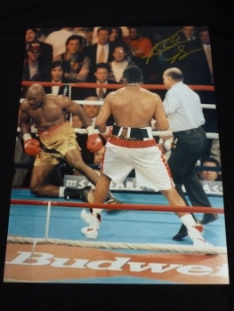 Riddick Bowe Signed 12x16 Boxing Photograph. :G