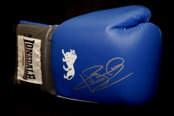 Ken Buchanan Hand Signed Blue Boxing Glove
