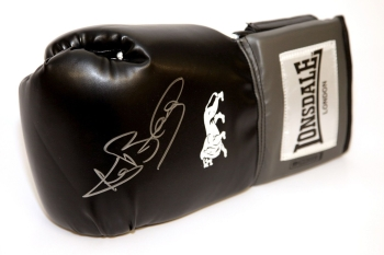 Ken Buchanan  Hand Signed Landscape Black Boxing Glove