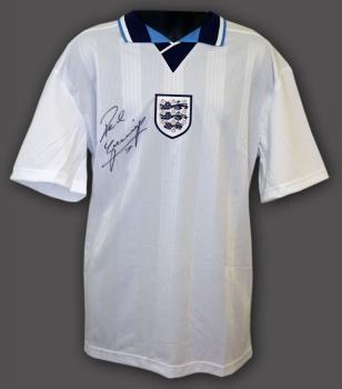 Paul Gascoigne Hand Signed England 1996  Replica Football Shirt