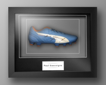 Paul Gascoigne Signed Football Boot Presented In Our Elegance Box Frame