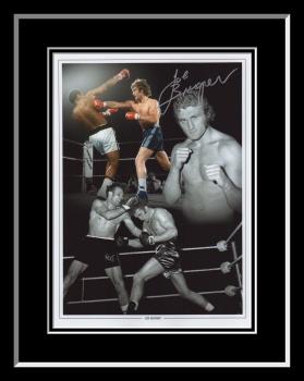 New Joe Bugner Signed And Framed Boxing Montage