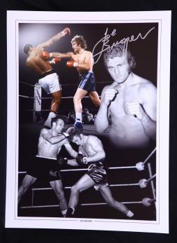 New Joe Bugner Rare Signed 12x16  Boxing Montage
