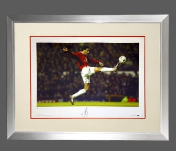 *New* Ruud Van Nistelrooy Manchester United Signed Photograph In A Frame : B