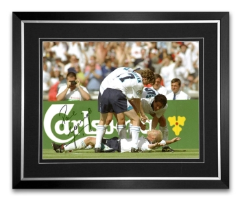 Paul Gascoigne Signed And Framed Football Photograph: A