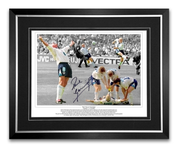 Paul Gascoigne Signed And Framed Football Photograph: B