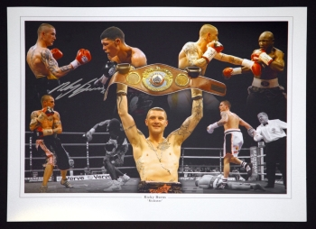 Ricky Burns Signed 12x16  Boxing Montage Photograph