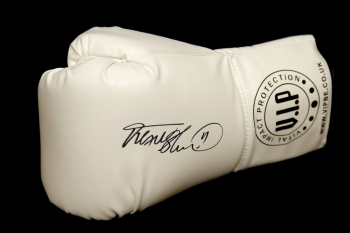 *Rare* Frank Bruno Hand Signed White Vip Boxing Glove