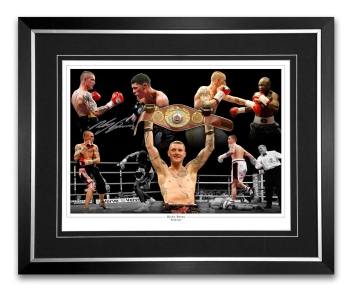 Ricky Burns Signed And Framed Boxing Montage