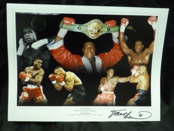 Frank Bruno Signed 12x16 Boxing Montage : 1