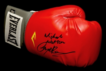 Michael Watson And Nigel Benn Dual Signed Everlast Boxing Glove.