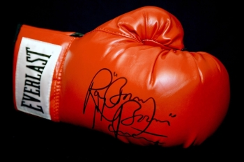 "Ray ""Boom Boom"" Mancini  Signed Red Everlast Boxing Glove."