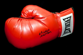 Michael Watson Signed  Red Everlast Boxing Glove: A
