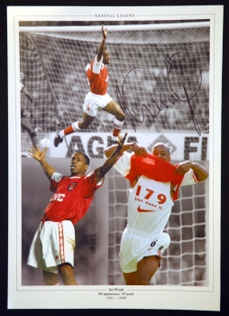 Ian Wright Hand Signed 12x16 Arsenal Photograph