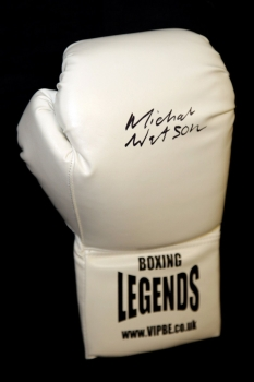 Michael Watson Signed White Boxing Legends Glove.