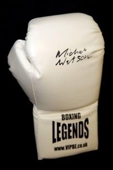 Michael Watson Signed White Boxing Legends Glove.