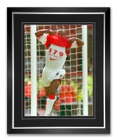 Ian Wright Arsenal Signed And Framed Football Photograph : C