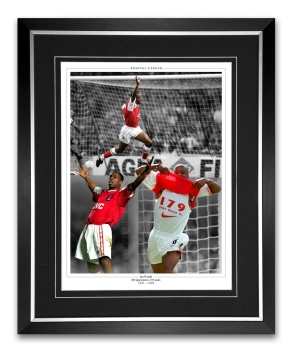 Ian Wright Arsenal Signed And Framed Football Montage