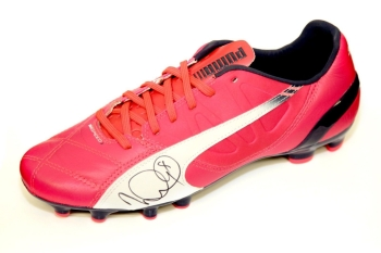 Ian Wright  Arsenal Hand Signed Pink Puma Football Boot