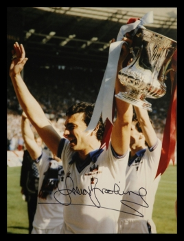 Trevor Brooking Signed West Ham United 12x16 Football Photograph : A