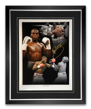 Joshua Buatsi Signed And Framed 12x16 Boxing Photograph