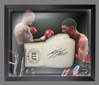 Ricky Burns Signed White Vip Boxing Glove Presented  In A Dome Frame