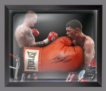 Ricky Burns Signed Red Everlast Boxing Glove Presented  In A Dome Frame