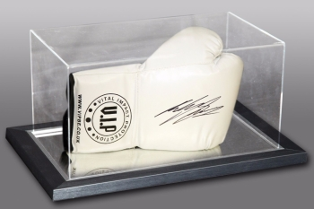 Ricky Burns Signed White VIP Boxing Glove In An Acrylic Case