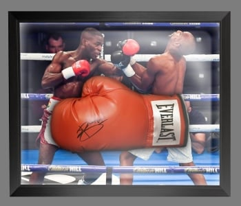 *New* Joshua Buatsi  Hand Signed Red Everlast Boxing Glove In A Dome Frame - B
