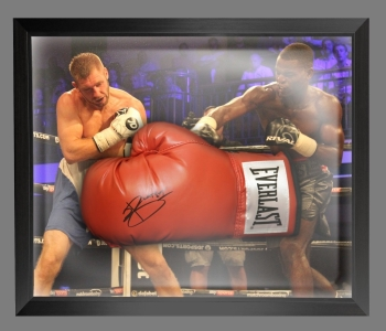 *New* Joshua Buatsi  Hand Signed Red Everlast Boxing Glove In A Dome Frame - C