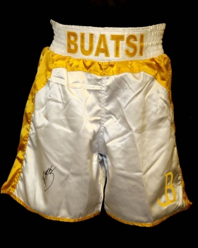 Joshua Buatsi Hand Signed Custom Made Boxing Trunks