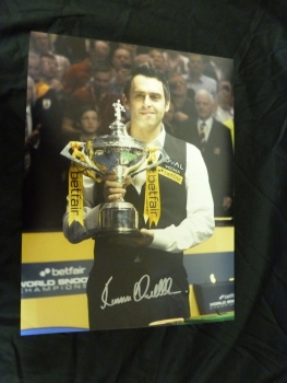 Ronnie O'Sullivan Signed Large 12x16 Photograph 2013 World Cup