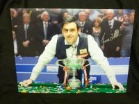 Ronnie O'Sullivan Signed Snooker Large Photograph B