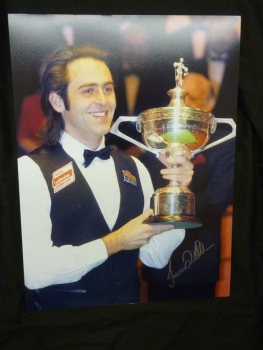 Ronnie O'Sullivan Signed Snooker Large Photograph E