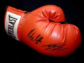 Ricky Burns And Anthony Crolla Dual Signed Everlast Boxing Glove.