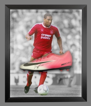 John Barnes Signed Football Boot In An Acrylic Dome Presentation
